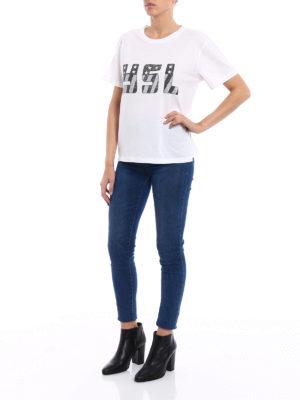 Saint Laurent: t-shirts online - YSL print white T-shirt