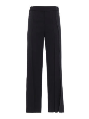 Saint Laurent: Tailored & Formal trousers - Wool pleated trousers