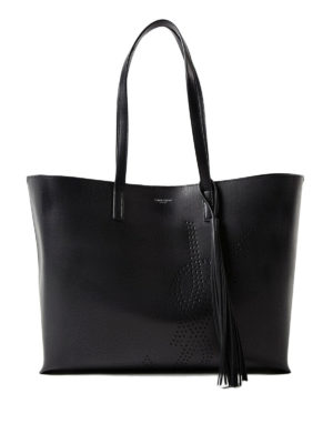 Saint Laurent: totes bags - Drilled YSL vintage leather tote