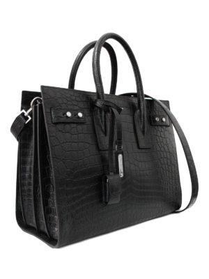 Saint Laurent: totes bags online - Sac de Jour croco print leather bag