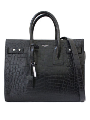 Saint Laurent: totes bags - Sac de Jour croco print leather bag