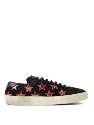 Saint Laurent: trainers - California sneakers with stars