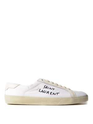 Saint Laurent: trainers - Court Classic SL/06 canvas sneakers