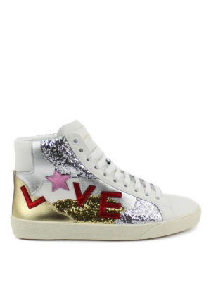 Saint Laurent: trainers - Love leather sneakers