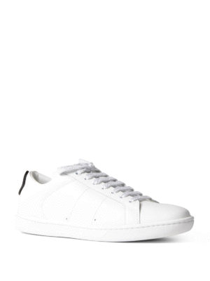 Saint Laurent: trainers online - Lips patch leather sneakers