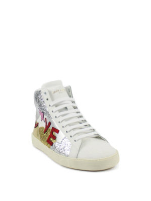 Saint Laurent: trainers online - Love leather sneakers