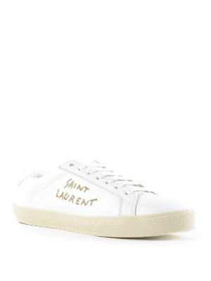 Saint Laurent: trainers online - SL/06 embroidered logo sneakers