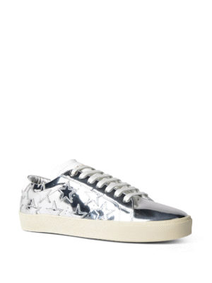 Saint Laurent: trainers online - Star mirrored leather sneakers