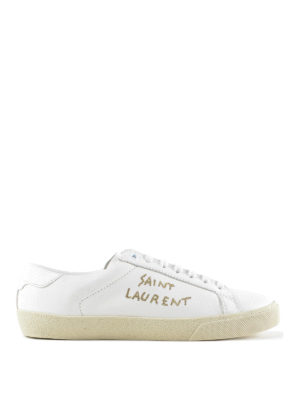 Saint Laurent: trainers - SL/06 embroidered logo sneakers