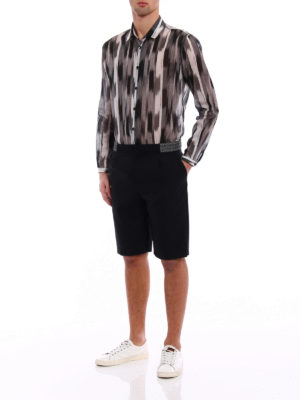 Saint Laurent: Trousers Shorts online - Ikat embroidered wool short pants