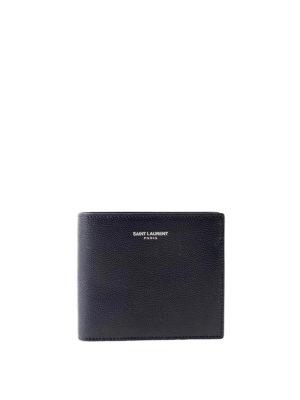 Saint Laurent: wallets & purses - Bi-fold hammered leather wallet