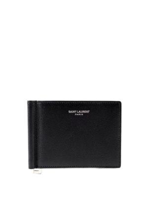 Saint Laurent: wallets & purses - Bill clip detail bifold wallet