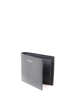 Saint Laurent: wallets & purses online - Bi-fold hammered leather wallet