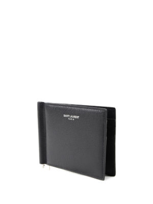 Saint Laurent: wallets & purses online - Bill clip detail bifold wallet
