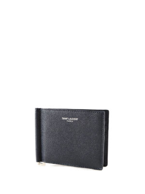Saint Laurent: wallets & purses online - Bill clip detail bifold wallet