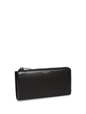 Saint Laurent: wallets & purses online - Classic Fragments leather wallet