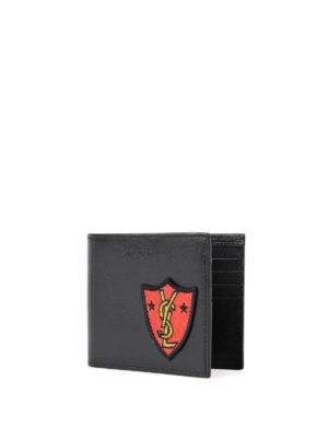 Saint Laurent: wallets & purses online - YSL patch leather wallet