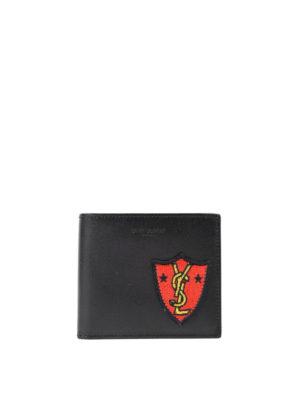 Saint Laurent: wallets & purses - YSL patch leather wallet