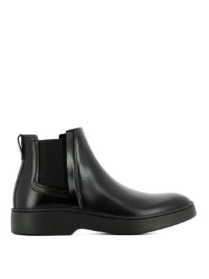 Salvatore Ferragamo: ankle boots - Dimitri calf leather Chelsea boots