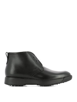 Salvatore Ferragamo: ankle boots - Dorris black leather desert boots