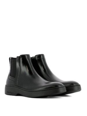 Salvatore Ferragamo: ankle boots online - Dimitri calf leather Chelsea boots