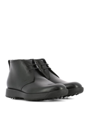 Salvatore Ferragamo: ankle boots online - Dorris black leather desert boots