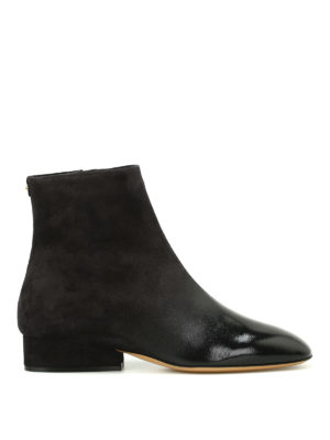 Salvatore Ferragamo: ankle boots - Pisa suede and leather ankle boots