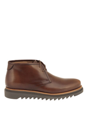 Salvatore Ferragamo: ankle boots - Polished leather chukka boots