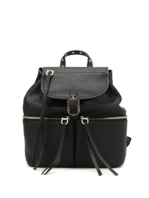 Salvatore Ferragamo: backpacks - Carol soft leather backpack