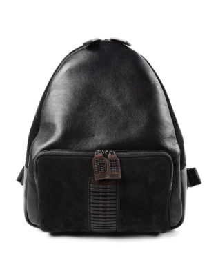 Salvatore Ferragamo: backpacks - Leather and suede backpack