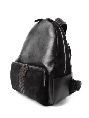 Salvatore Ferragamo: backpacks online - Leather and suede backpack