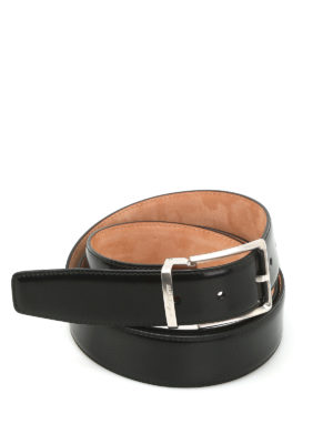 Salvatore Ferragamo: belts - Brushed leather belt