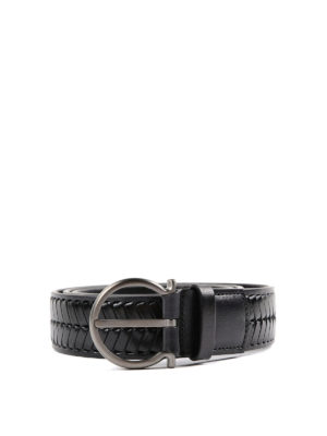 Salvatore Ferragamo: belts - Criss-cross leather belt