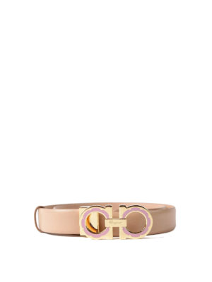 Salvatore Ferragamo: belts - Daisy Gancini buckle leather belt