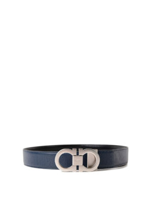 Salvatore Ferragamo: belts - Double adjustable reversible belt