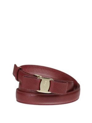 Salvatore Ferragamo: belts - Iconic Vara bow leather belt