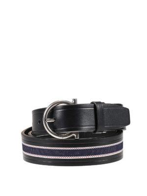 Salvatore Ferragamo: belts - Metal Gancio buckle leather belt