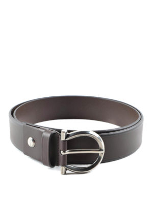 Salvatore Ferragamo: belts - Nickel buckle leather belt