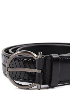 Salvatore Ferragamo: belts online - Criss-cross leather belt