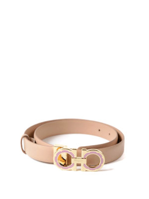 Salvatore Ferragamo: belts online - Daisy Gancini buckle leather belt