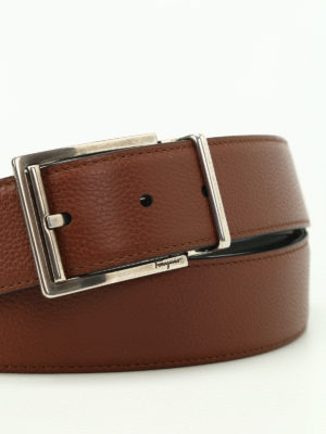 Salvatore Ferragamo: belts online - Double Adjus reversible belt