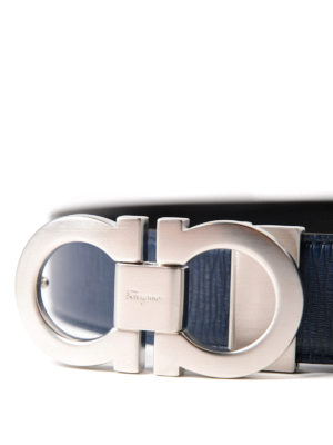 Salvatore Ferragamo: belts online - Double adjustable reversible belt