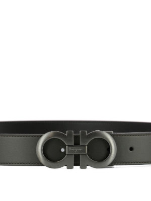 Salvatore Ferragamo: belts online - Double Gancio leather belt