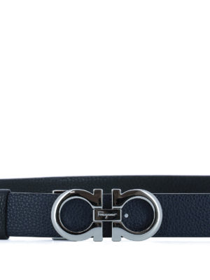 Salvatore Ferragamo: belts online - Gancini reversible leather belt