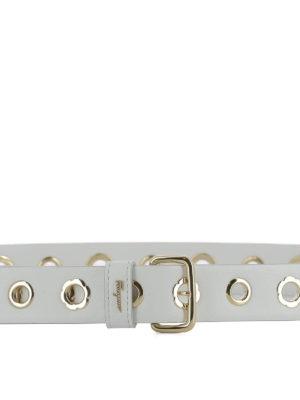 Salvatore Ferragamo: belts online - Gold-tone floral eyelets belt