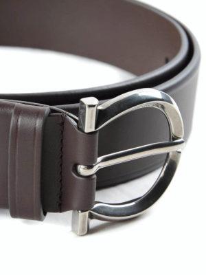 Salvatore Ferragamo: belts online - Nickel buckle leather belt