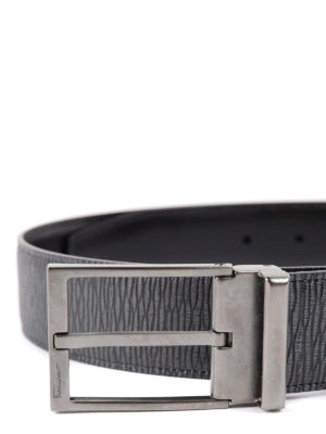 Salvatore Ferragamo: belts online - Reversible leather belt