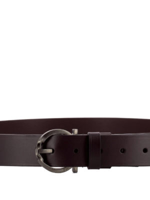 Salvatore Ferragamo: belts online - Signature buckle leather belt