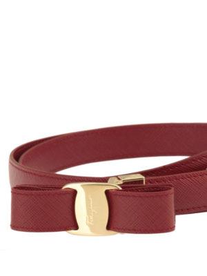 Salvatore Ferragamo: belts online - Vara bow detail saffiano belt