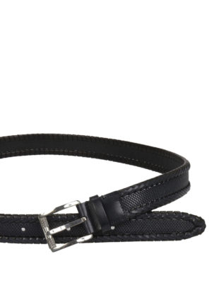 Salvatore Ferragamo: belts online - Woven and printed leather belt